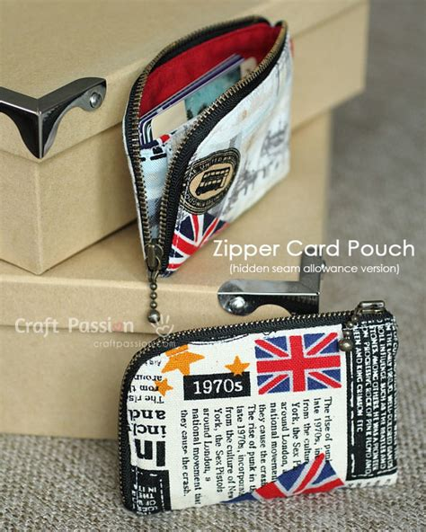 zippered card pouch pattern sew zipper card pouch free pattern craft passion