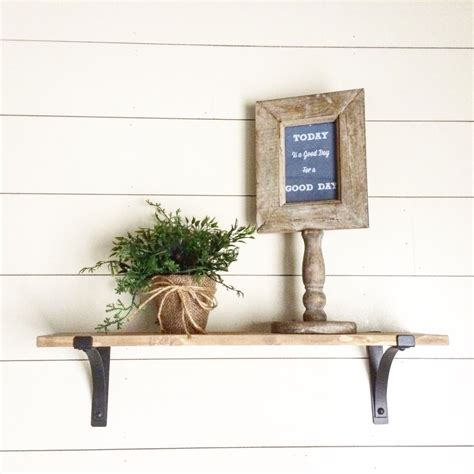 Shiplap Shelves Remodelaholic How To Install A Shiplap Wall Rustic