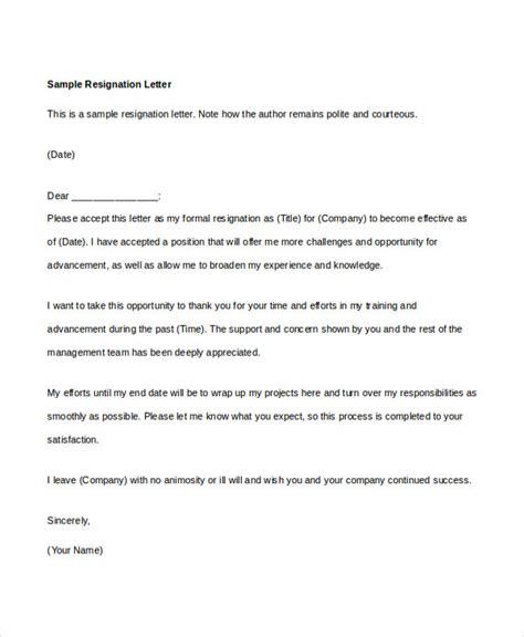 34 resignation letter word templates free premium