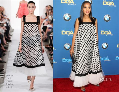 Catwalk To Carpet Kerry Washington In Maison Martin Margiela by Kerry Washington In Oscar De La Renta 2014 Directors