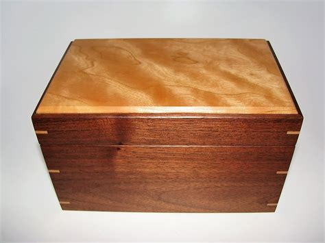 Handmade Wooden Keepsake Boxes - small wood keepsake box cherry and walnut 7 5 quot x 4 75 quot x