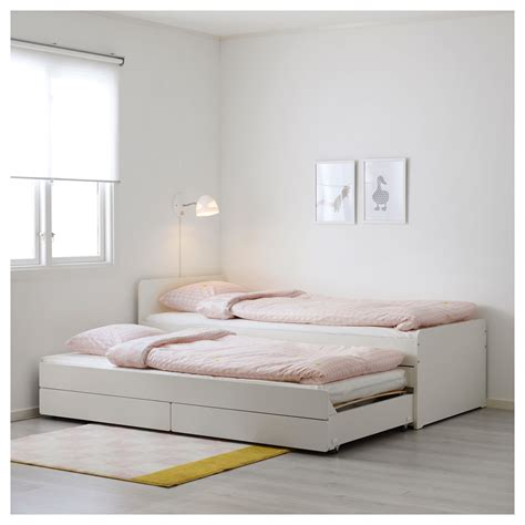 futon matratze 90x200 sl 196 kt bed frame with underbed and storage white 90x200 cm