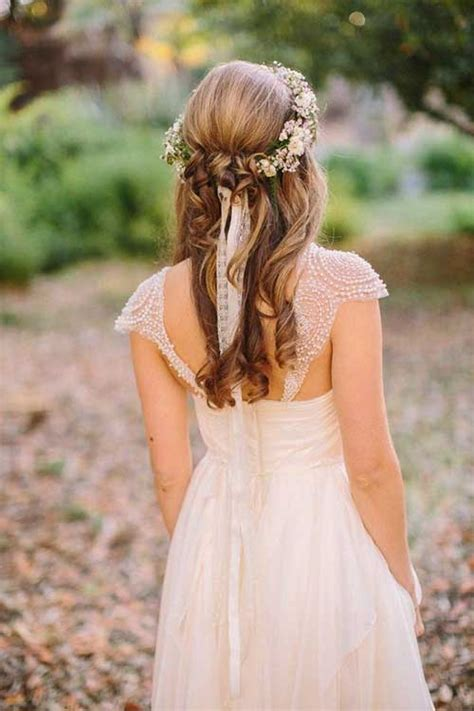 Wedding Hairstyles Up With Flowers by 15 Half Up Half Bridal Hair Hairstyles Haircuts