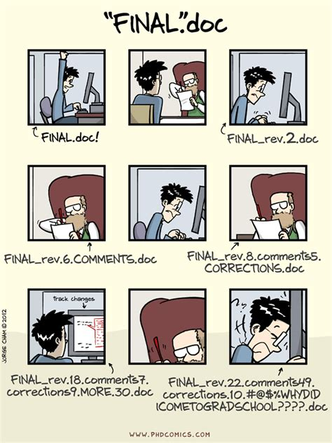 Phd Comics Literature Review by Phd Comics Notfinal Doc