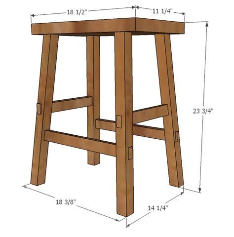 ana white cayden nailhead counter height stool diy