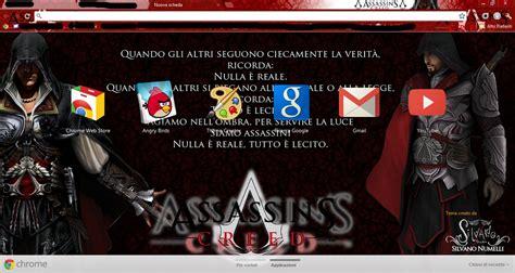 chrome themes wow ezio auditore brotherhood google chrome theme by sl4eva