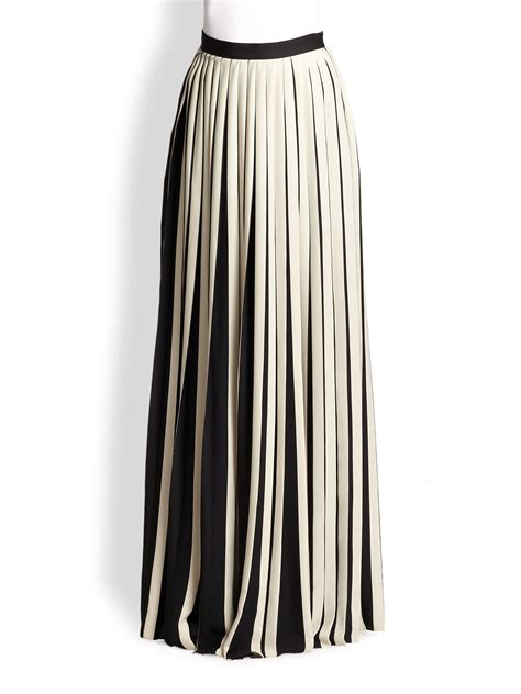 lyst by malene birger ishrat pleated maxi skirt in white