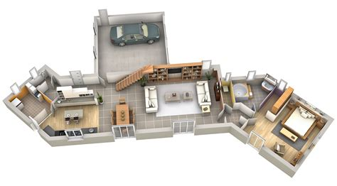 amenagement interieur plan modele interieur maison moderne mam menuiserie