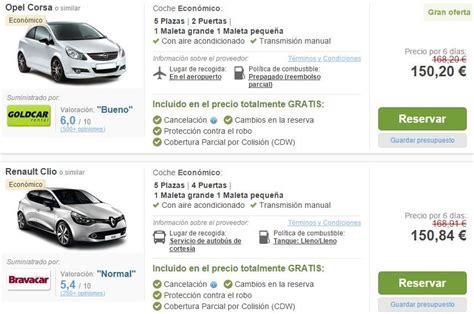 alquilar coche en de la alquiler de coche en madeira comparativa y precios