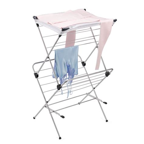 Mesh Drying Rack by Polder 2 Tier Mesh Top Clothes Drying Rack The Container Store