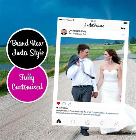 instagram design photobooth new instagram frame bespoke new design photo booth prop