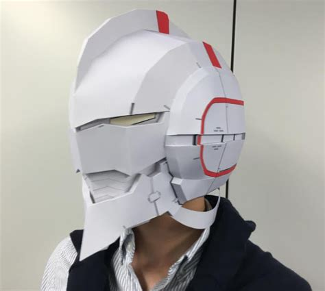 Papercraft Gas Mask - papermau a of ultra ultraman realistic mask paper