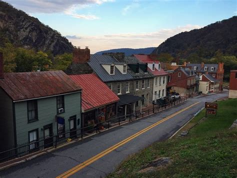 harpers ferry bed and breakfast stonehouse is the third house from the left with the front porch covered with a black
