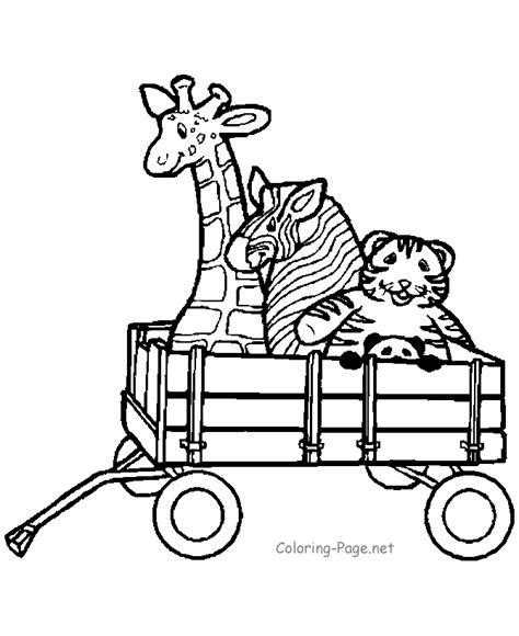 coloring wooden wagon coloring pages