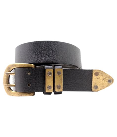lapalma black leather belt buy at low price in