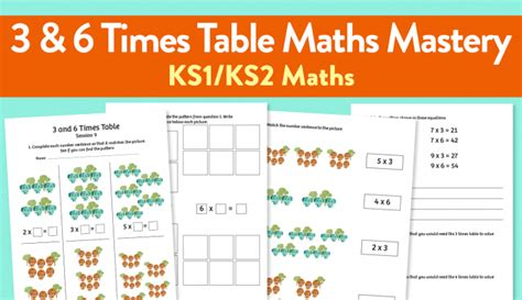 worksheets for times tables ks1 9 challenging maths mastery worksheets for teaching the