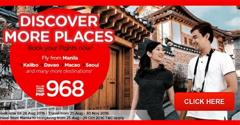 airasia redemption airasia promo august to november 2016