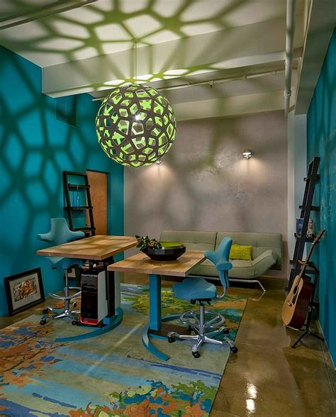lights that cast patterns modern home office showcases the mesmerizing honeycomb