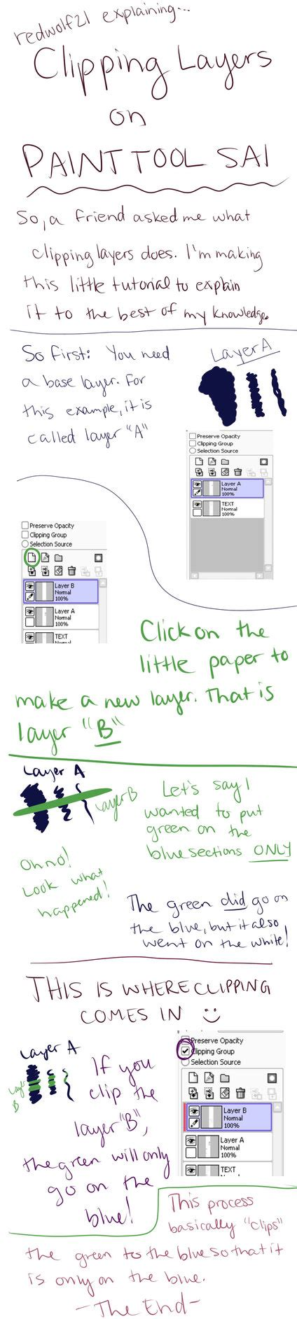 paint tool sai how to move layers rw21 explains clipping layers in paint tool sai by