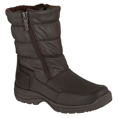 totes womens boots totes s weather boot black clothing