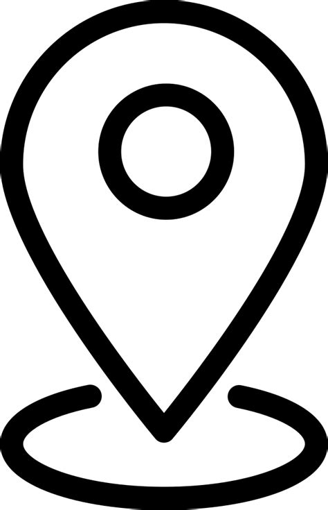 ios location outline svg png icon