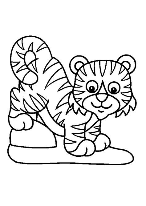 Coloriage Tigre Les Beaux Dessins De Animaux 224 Imprimer Coloriage Animaux Savane A ImprimerL
