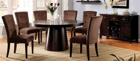 espresso pedestal dining room set from
