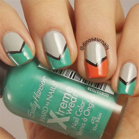 easy nail art chevron easy chevron nail art by vanesa nailpolis museum of