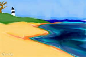 coastline a landscape speedpaint drawing by nyagoc