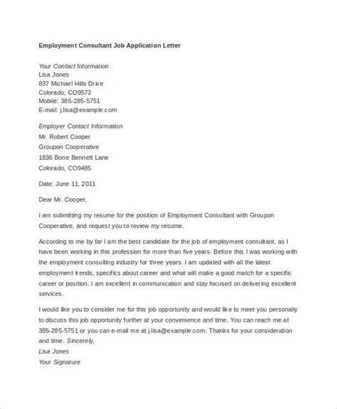 application letter template 10 application letter templates for employment pdf