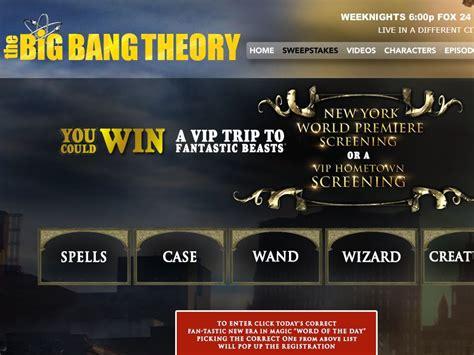 Big Bang Theory Sweepstakes - the big bang theory fan tastic sweepstakes