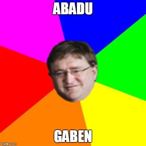 Gaben Meme - blank colored background meme imgflip