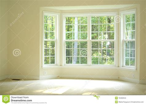 Bow Window Curtains open and bright room with bay window stock images image