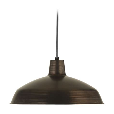 Commercial Pendant Lighting Progress Warehouse Industrial Pendant Light With Bronze Metal Shade P5094 74 Destination