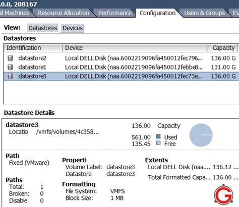 format hard drive vmware esxi vmware esxi 4 how to add vmfs datastore using vsphere