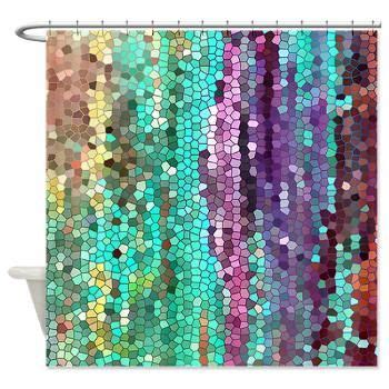 Unique Fabric Shower Curtains Artistic Shower Curtain Morning Has Broken Mosaic Unique Fabric