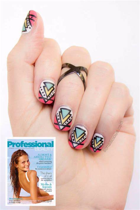 tutorial nail art aztec easy nail designs step by step aztec www pixshark com