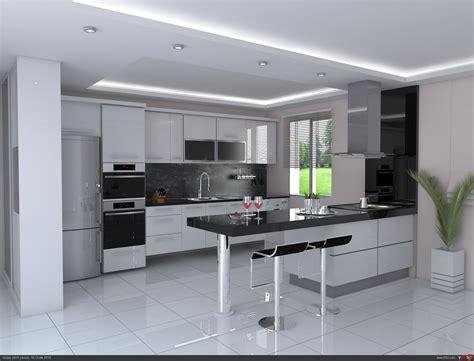 modern mutfak mimari projeler