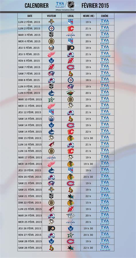 Calendrier 2015 Canadien Rds Calendrier Hockey Lnh Du 27 Mars 2015 Au 3 Avril 2015 2016