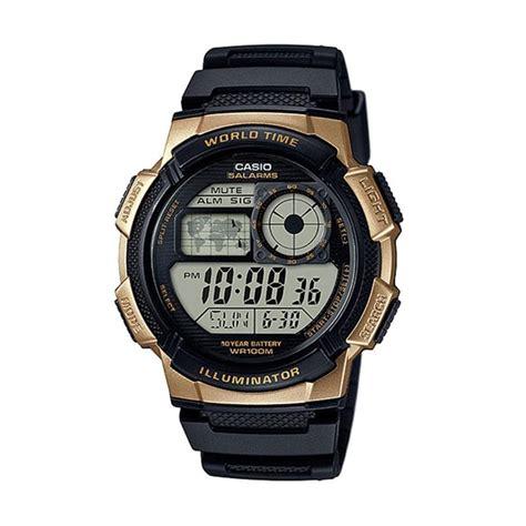 Jam Tangan Pria Wanita Casio Ae 1300wh Hitam Pink Original jual casio jam tangan pria hitam ae 1000w 1a3vdf harga kualitas terjamin blibli