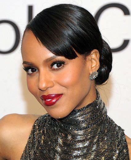 kerry washington hair pin up kerry washington makeup red lip scandal pinterest