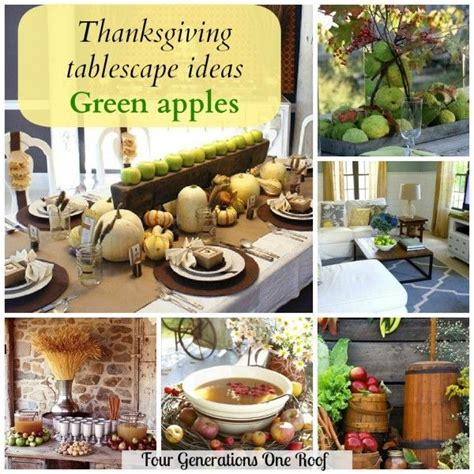 Thanksgiving Tablescapes Design Ideas Thanksgiving Tablescape Ideas Apples Tablescapes Diy Home Decor And Thanksgiving