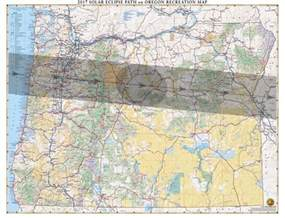 map of oregon total eclipse oregon solar eclipse wall map benchmark maps
