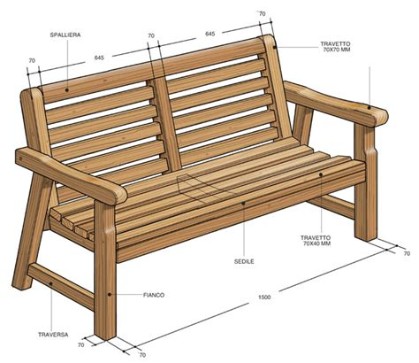 panchina fai da te in legno arredo giardino fai da te come costruire una panca e