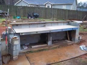 cinder block for outdoor kitchen outdoor diy pinterest