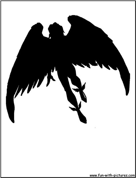 angry angel silhouette