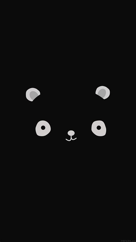 wallpaper iphone cute black ag17 cute minimal panda dark illust art