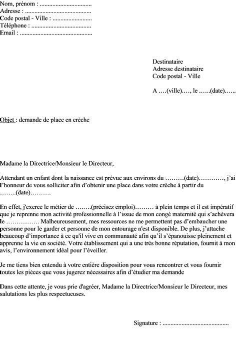 Mod Le De Lettre Demande De Mainlev E D Hypoth Que mod 232 le de lettre de demande de place en cr 232 che d un enfant