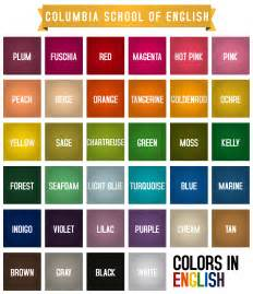 color vocabulary colors in conversationallyspeaking
