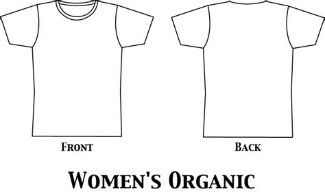 womens organic shirt template by liberation clothing on